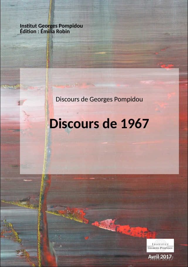 Couverture du volume 1967