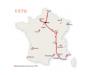 Le réseau autoroutier français en 1970